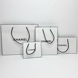 Bundle of Chanel Shopping Bags - Various Sizes